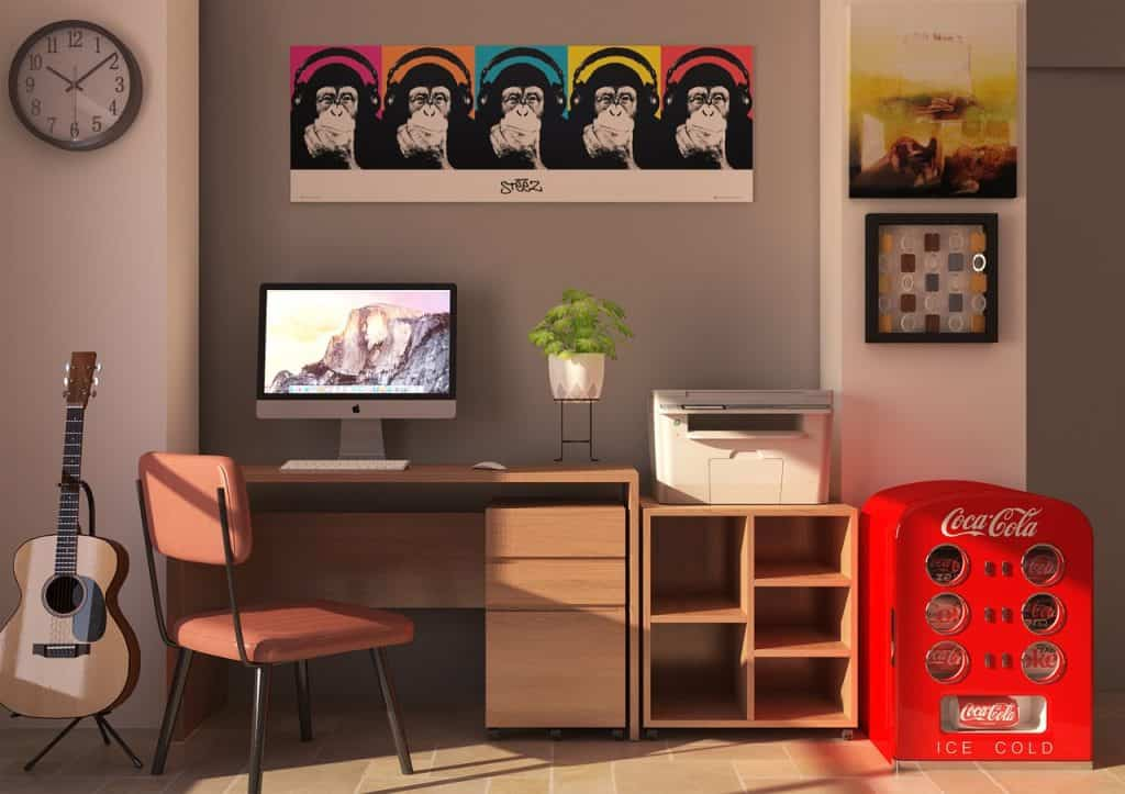 Imagem de um escritório Home Office.