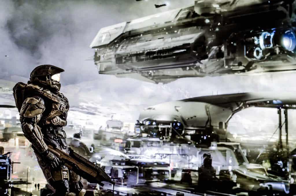 Imagem do jogo Halo para Xbox One.