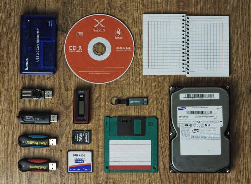 Foto com as diferentes formas de armazenagem existentes.