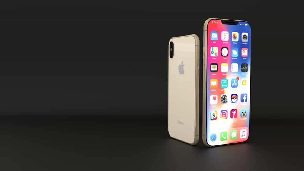 Imagem de um iphone X ao lado de um modelo XS Max.