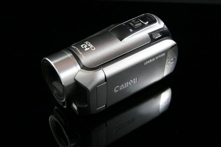 Filmadora compacta.