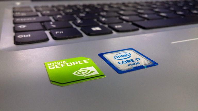Imagem de notebook com processador Intel i7