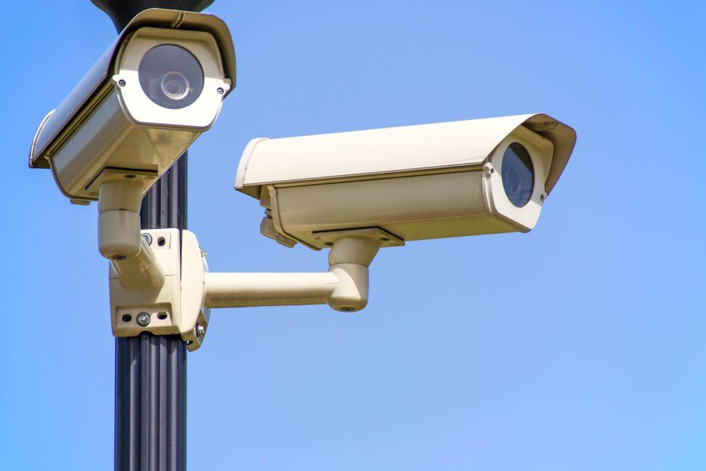Imagem de câmeras de segurança.
