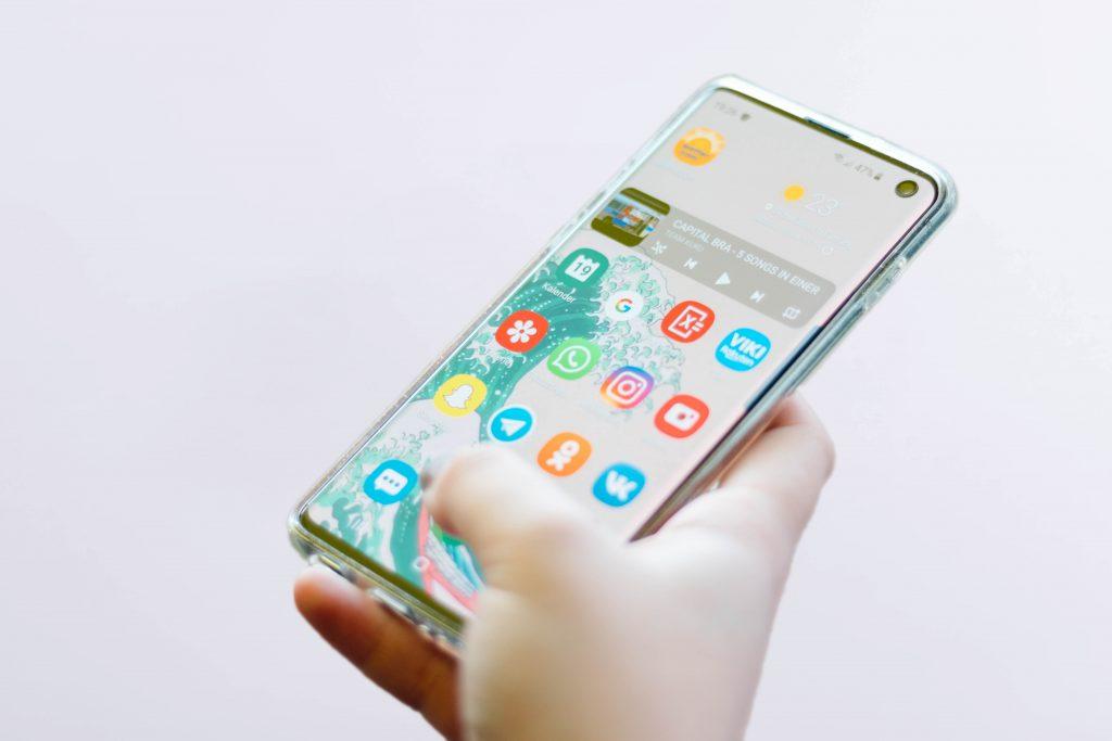 Imagem de um smartphone.