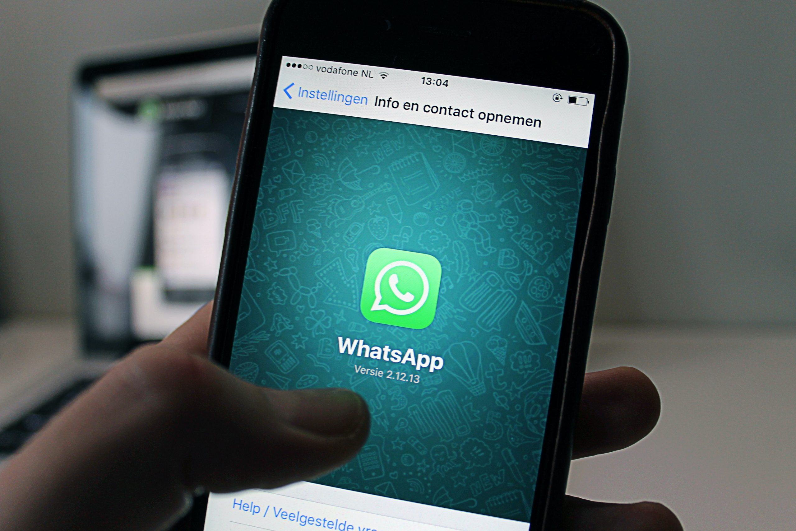 Imagem da página inicial do aplicativo Whatsapp.