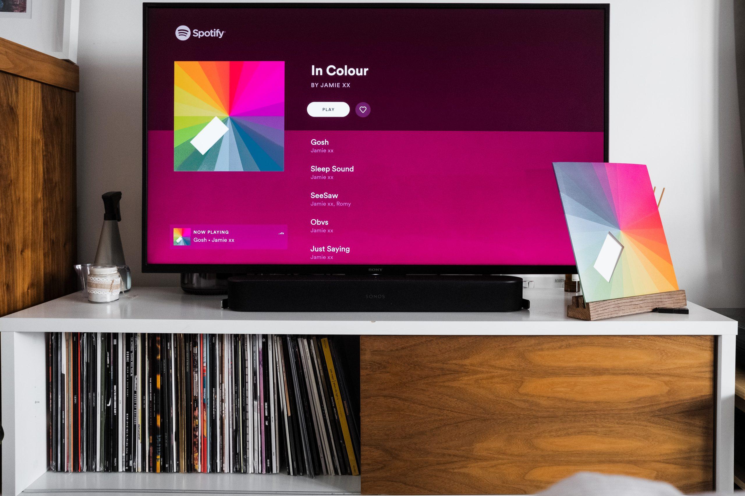 Spotify na TV.