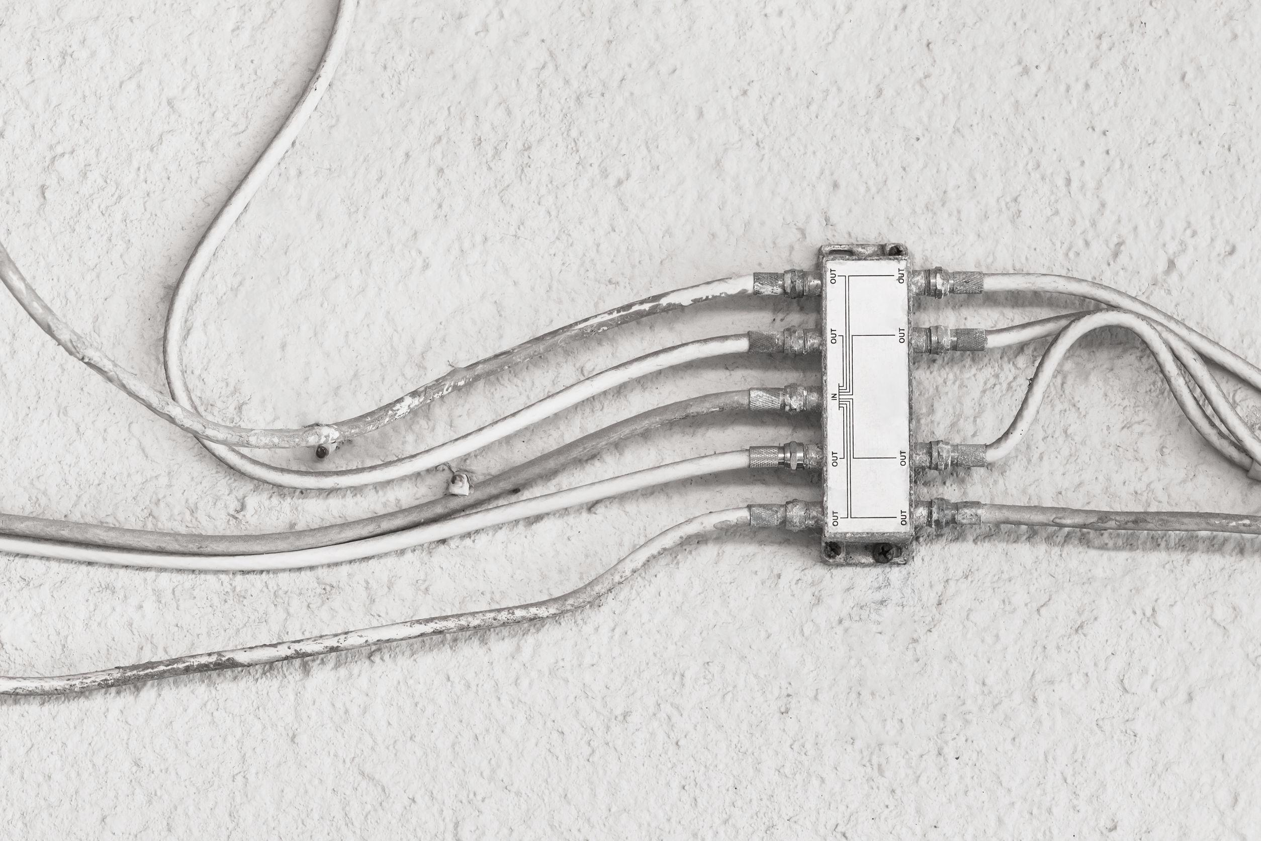 Imagem mostra um splitter em detalhe.