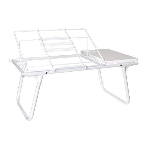 Mesa de Colo para Notebook, Metaltru, Branco com Branco
