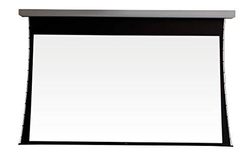 Tela de Projeção 119 Polegadas 16:9 Matte White Elétrica 110v Tensionada com Controle Remoto