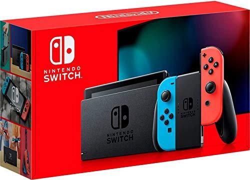 New Nintendo Switch Azul e Vermelho Neon