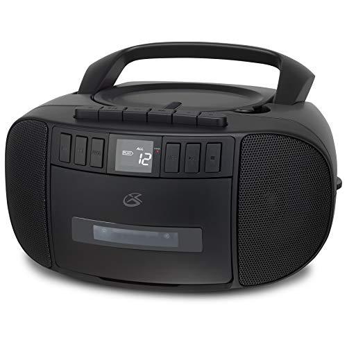GPX BCA209B Portátil AM / FM Boombox com CD e leitor de cassetes, Preto