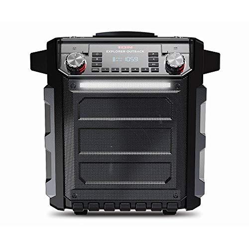 Sistema de som Bluetooth portátil AM/FM e resistente à água - Preto, Ion, EXPLOREROUTB,