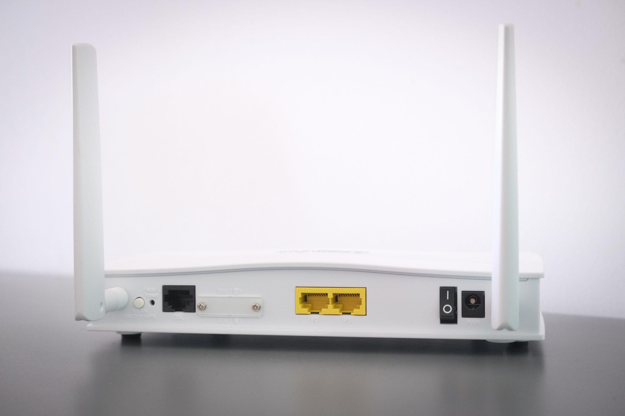 Imagem de um modem de internet.
