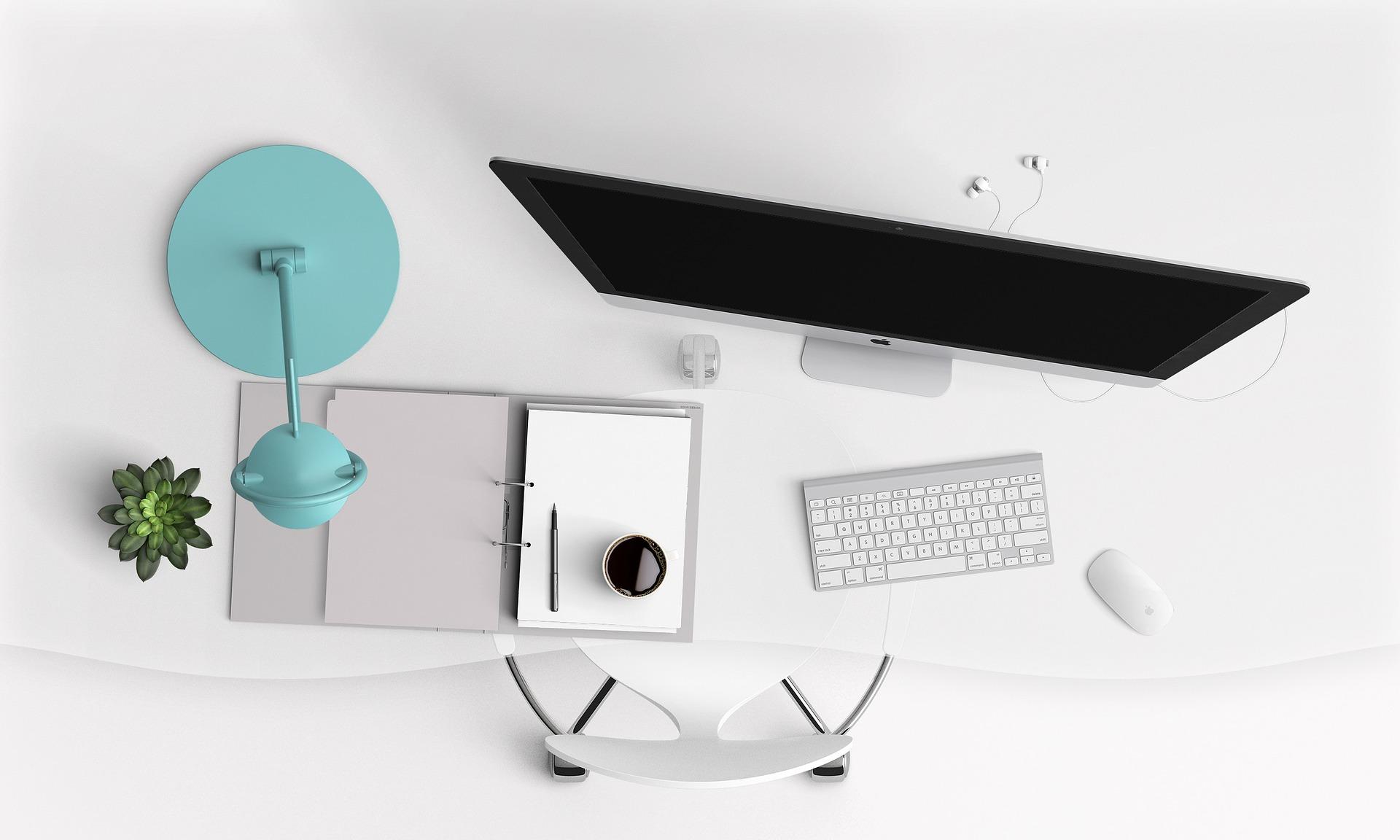 Imagem de uma mesa de trabalho.