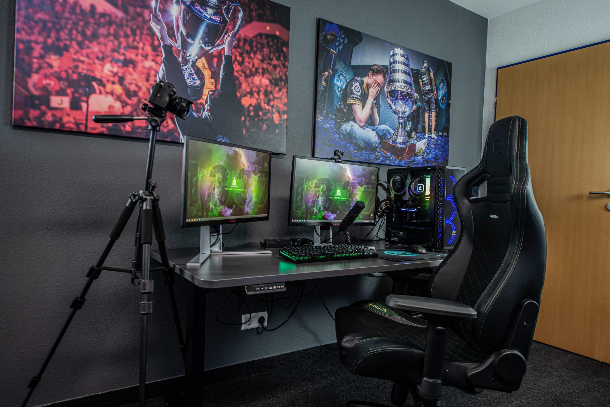 Imagem de um setup gamer.