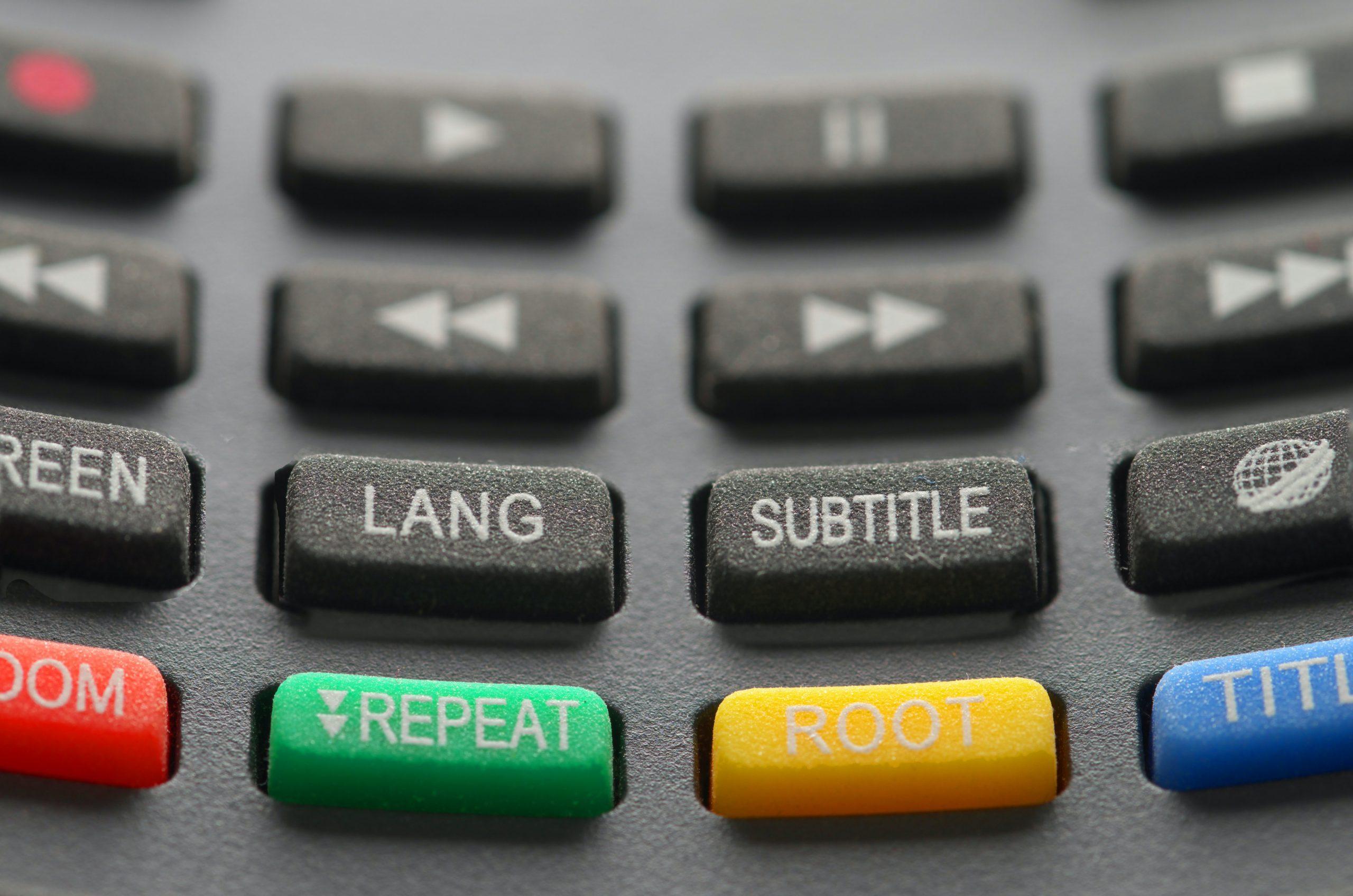 botões de um controle remoto em alto relevo