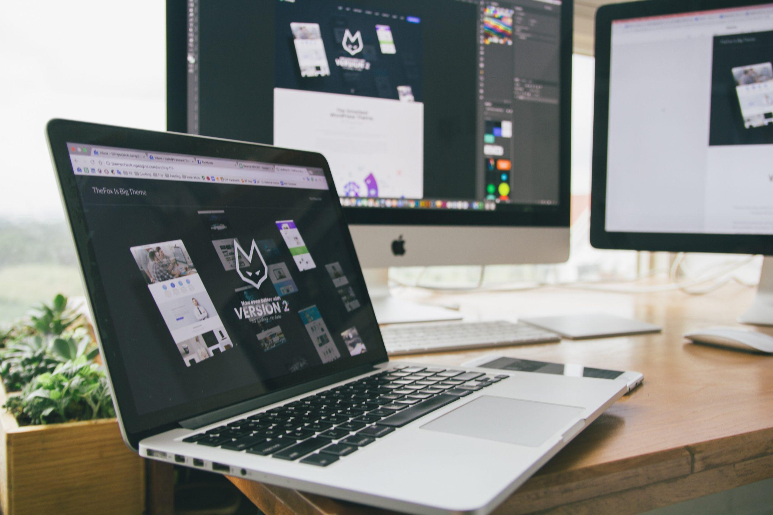 Imagem mostra monitores lado a lado com imagens similares.