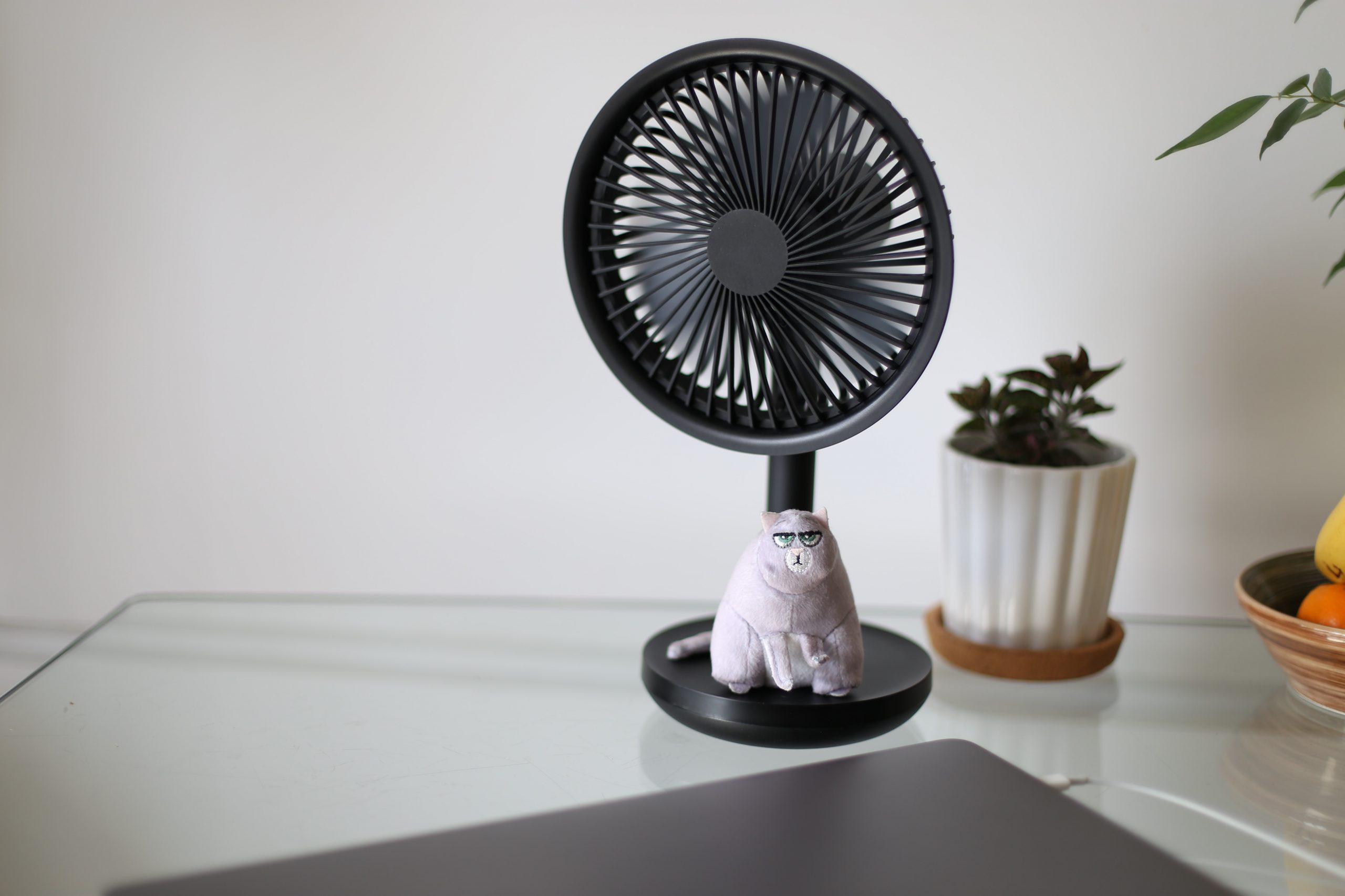 Imagem de um pequeno ventilador.