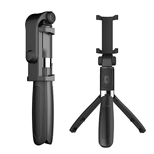 Docooler Multifuncional Sem Fio Bt Selfie Vara Para Celular Dobrável Handheld Monopé Obturador Remoto Mini Tripé Extensível Para Telefone (Preto)