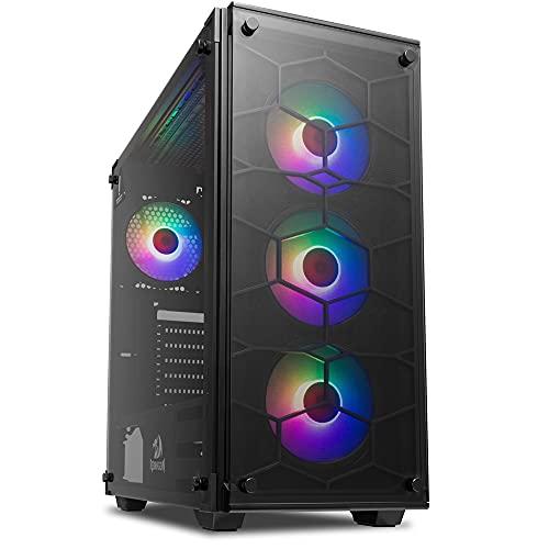 Gabinete Gamer Redragon Wheel Jack, 4 Fans RGB inclusos, Mid Tower, Vidro Temperado, Black, S-fonte, GC-606B-RGB
