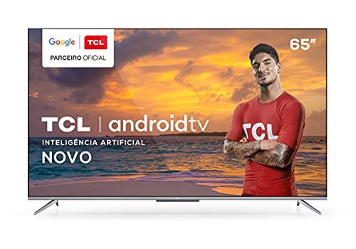"Smart TV LED 65"" TCL P715 4K Android UHD HDR com Wi-Fi, Borda Ultrafina e Google Assistant"