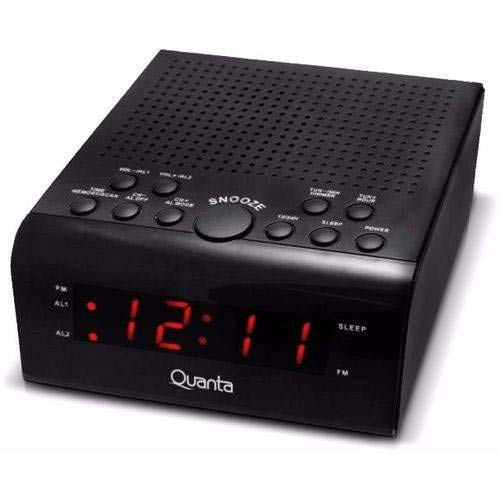 Rádio Relógio Quanta Digital Duplo Alarme Qtrar 4300