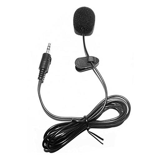 Docooler Microfone de lapela com clipe externo, Preto