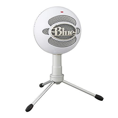 Microfone Condensador USB Blue Snowball iCE com Captação Cardióide, Ajustável, Plug and Play para Gravação e Streaming em PC e Mac - Branco