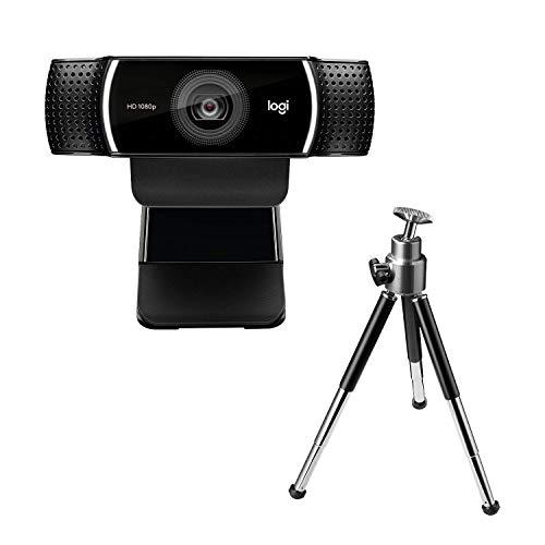 Webcam Full HD Logitech C922 Pro Stream com Microfone para Gravações em Video 1080p e Tripé Incluso, Compatível com Logitech Capture