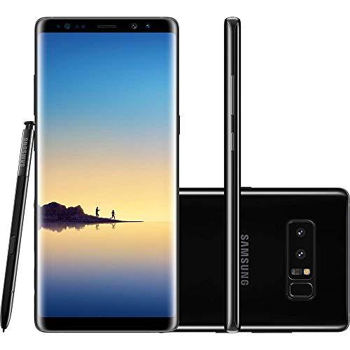 Samsung Galaxy Note 8 - Smartphone, Caneta S Pen, Reconhecimento de Íris, Android 7.1, 128GB, 6GB RAM, Display Infinito, Dual câmera traseira 12MP+12MP, Estabilizador Óptico, Dual Pixel, Câmera Frontal com 8MP, Dual chip e Proteção IP68, Preto