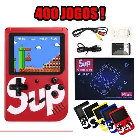 Mini Game Box Retro Portátil 400 Jogos At001 Sup + Cabo Av - Pode Ligar a TV