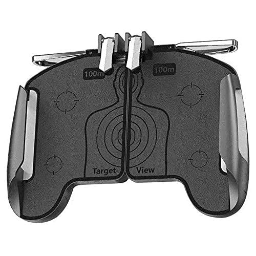 Mintata2019 Controle de Jogo Móvel Alça Alça Esticável Toque Sensível Botão de Fogo Disparo Gaming Shooter Gatilho para AK16 PUBG Game, Preto