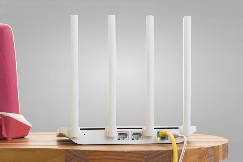 router blanco de alta velocidad