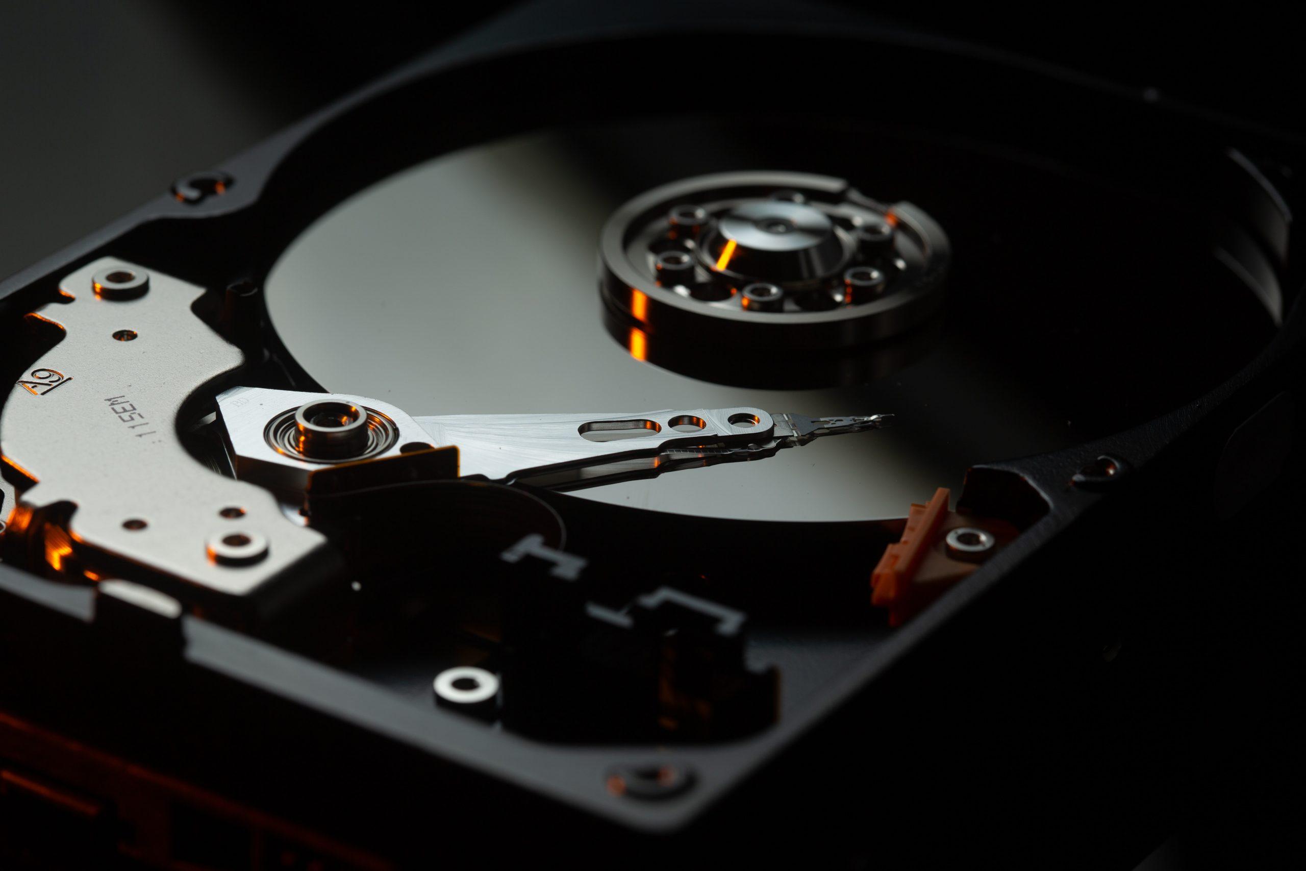 Imagem de um disco rígido.