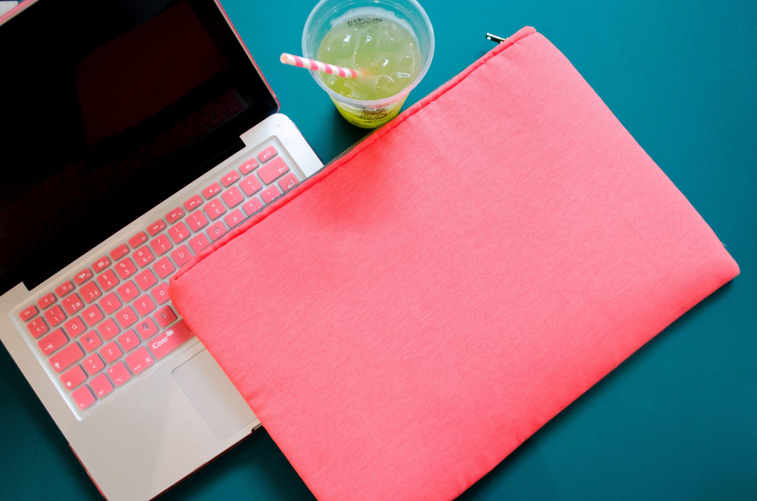 Imagem de uma capa para notebook.