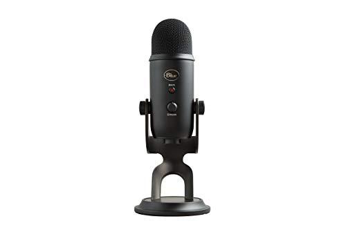 Microfone USB Blue Yeti para PC e Mac, podcast, microfone para jogos, streaming e gravação, com efeitos Blue VO!CE, suporte ajustável, Plug and Play – blackout