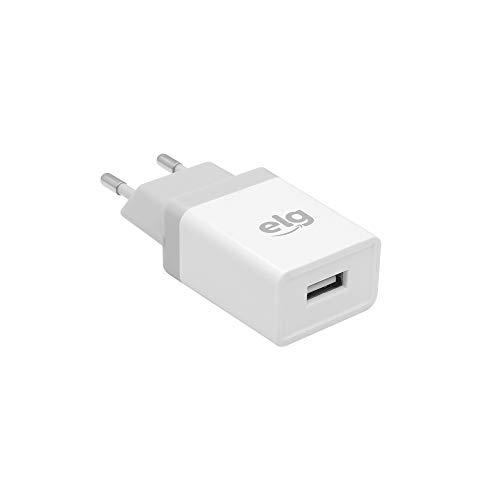 Elg WC1AE, Carregador USB de Parede Universal, Branco