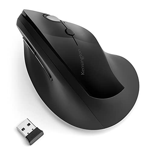 Mouse sem Fio Pro Fit, Kensington, K75501WW, Ergonômico, Preto, Médio