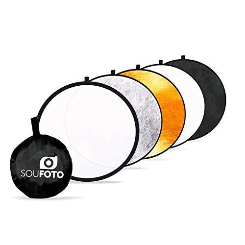 Rebatedor Fotográfico Refletor e Difusor 5 em 1 Sou Foto 80cm - Rb80-5x1