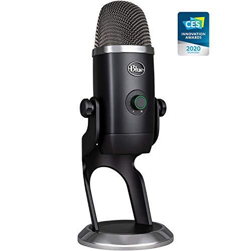 Microfone Condensador USB Blue Yeti X com 4 Padrões de Captação e Conexão Plug and Play para Jogos, Podcasts, Gravações e Streaming em PC e Mac