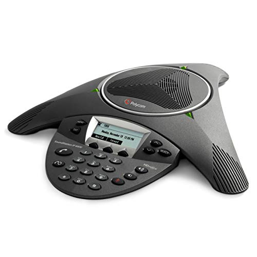 Telefone Audioconferencia SoundStation Polycom IP6000 (SIP) Expansivel - Alimentação AC ou PoE (não acompanha Fonte de Alimentação) 2200-15600-001