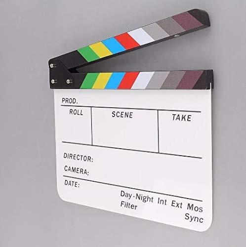 Claquete Cinema Profissional Branca Colorida