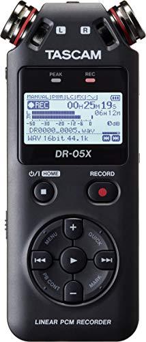 Gravador de Voz Digital, Tascam, DR-05X, Preto, Único