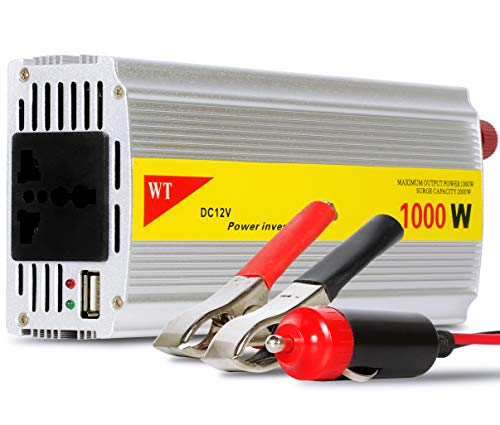Inversor Tensão 1000w 12v Para 220v Veicular Transformador Conversor Com Tomada Padrão e Usb