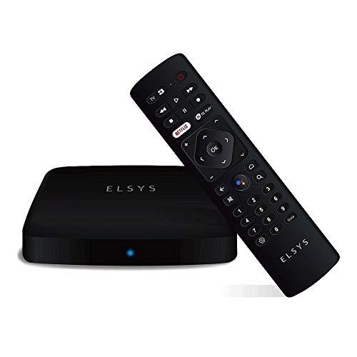 Receptor de TV Via Internet Streaming Box Elsys, Android TV - ETRI02, 4K e Conversor de TV Digital