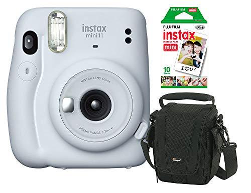 Câmera instantânea Fujifilm Instax Mini 11 Branca + Bolsa + Filme Instax com 10 poses