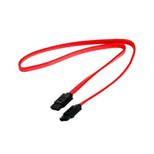 Cabo SATA PlusCable PC-CBST04RD 50Cm Vermelho - Conectores de 180° Taxa de Transferência até 3Gbps Compatível com HD, SSD, CD/DVD, 441060200301