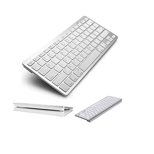 Mini Teclado Bluetooth Sem Fio para Tablet e Celular Prata