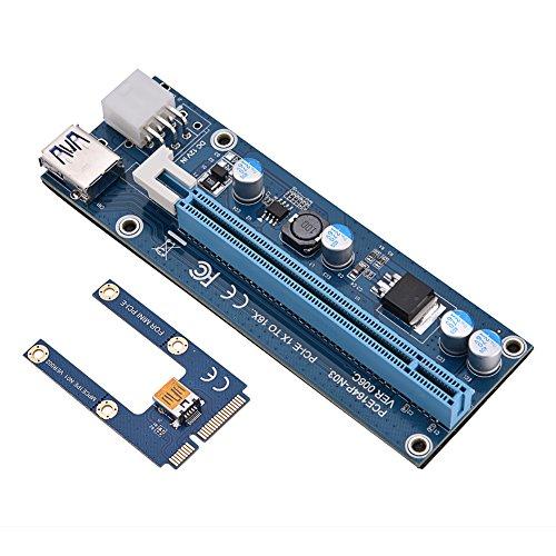 Adaptador de alimentação da placa PCI-E do extensor 16x Extender para adaptador PCI Express com cabo de alimentação SATA para vídeo da placa gráfica
