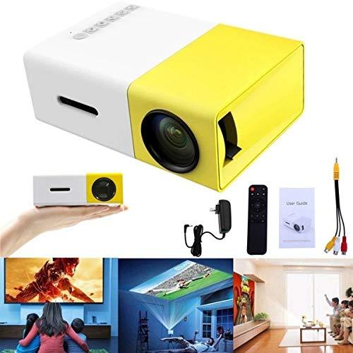 Mini Projetor Portátil Led 1080p 400 600 Lúmens Lcd (Amarelo)